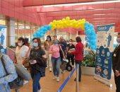 وصول أولى الرحلات القادمة من كازاخستان لمطار شرم الشيخ وعلى متنها 220 راكبا..صور