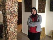 """جدارية بإنجازات الرئيس السيسى فى معرض منى رجب بـ دار الأوبرا المصرية """"صور"""""""