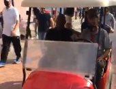 """موسيمانى يستكشف الأهلى فى جولة سريعة بـ""""عربية الجولف"""".. فيديو"""