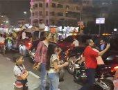 احتفالات حاشدة فى شوارع القاهرة بذكرى نصر أكتوبر ودعم الدولة والرئيس