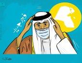 """كاريكاتير كويتى يحتفى بتولى الأمير نواف الأحمد القيادة بشعار """"فجر جديد"""""""