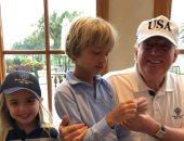 ترامب جونيور يحتفل بعيد ميلاد ابنه بصور أرشيفية مع أشقائه وجده الرئيس