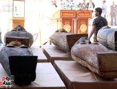 هل تم نقل توابيت سقارة الأخيرة إلى المتحف المصرى الكبير؟
