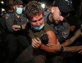 صور.. شرطة الاحتلال الإسرائيلى تعتقل 3 محتجين بمحيط منزل وزير الخارجية