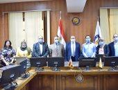 لجنة التعليم العالى والاتصالات تختتم زيارتها لجامعة بنى سويف