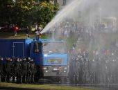 صور.. شرطة روسيا البيضاء تستخدم مدافع المياه لتفريق متظاهرين