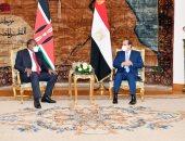 الرئيس السيسي يستقبل نظيره الكيني أوهورو كينياتا بقصر الاتحادية