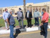 محافظ جنوب سيناء يتفقد إنهاء أعمال التجميل واللاند سكيب بمحيط جامعة الملك سلمان
