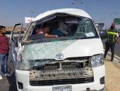 إصابة 15 شخصا فى انقلاب ميكروباص بالمنيا