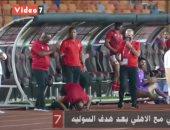 شاهد رد فعل موسيمانى بعد هدف عمرو السولية فى شباك المقاولون