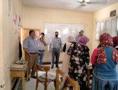 """أمين """"عمال مصر"""" يزور مدرسة مصر الخاصة للاطمئنان على إجراءات الوقاية"""