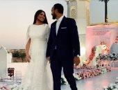 5 صور بعد عقد قرانهما تلخص رومانسية أحمد خالد صالح وهنادى مهنى