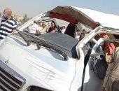 """أسماء مصابى حادث تصادم سيارة على طريق """"القاهرة الإسكندرية"""" الزراعى"""