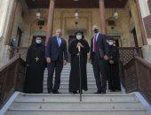 """سفير واشنطن والقائم بأعمال """"الأمريكية للتنمية"""" يزوران مصر القديمة.. صور"""
