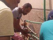 مياه الشرب بأسوان تشن حملة على الممتنعين عن السداد.. صور