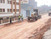 صور.. استكمال أعمال توسعة الطريق الدائرى للحد من زحام السيارات