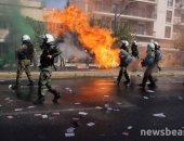 الفوضى تعم شوارع اليونان للمطالبة بإنهاء الفاشية والنازية.. صور