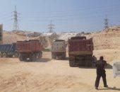 التحفظ على سيارة ولودر جرفا جبل توشكى غرب الإسكندرية