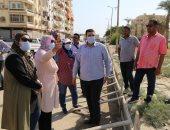نائب محافظ السويس يتفقد أعمال التطوير والرصف بحى فيصل ومدن عتاقة.. صور