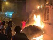 فيديو وصور.. الجيش اللبناني يطوق محيط انفجار بيروت ويفرق المواطنين