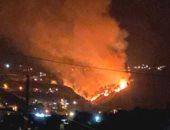 اندلاع حريق جديد فى لبنان وفرق الإطفاء تحاول إخماده.. فيديو