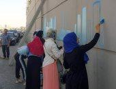 مبادرة شبابية للرسم على الجدران للارتقاء بالمظهر الحضارى لشوارع الدقهلية