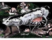 الحرس الثورى ينهب ثروات إيران ويحرم الشعب فى كاريكاتير سعودى