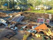 """الإعصار """"دلتا"""" يتسبب في خسائر فادحة بولاية لويزيانا الأمريكية.. فيديو"""