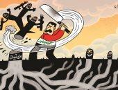 العراق يتوحد لاجتثاث الميليشيات المسلحة من جذورها فى كاريكاتير إماراتى