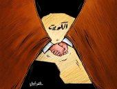 الشعب الكويتى يد واحدة لاستكمال مسيرة بناء دولتهم فى كاريكاتير صحيفة كويتية