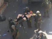 نقل جندي إسرائيلي أصيب رشقا بالحجارة بمخيم الأمعري في رام الله.. صورة