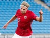 هالاند يحصد جائزة أفضل لاعب فى النرويج 2020