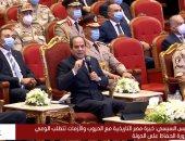الرئيس السيسى: لا يمكن هزيمة مصر بحرب من الخارج