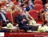 """الرئيس السيسي: """"ربنا قال وأعدوا لهم ما استطعتم واحنا بنعمل ما استطعنا"""""""