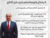 لايمكن هزيمة مصر بحرب خارجية..أخطر تصريحات السيسى بندوة القوات المسلحة-إنفوجراف
