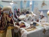 مطران شبرا وتوابعها يدشن كنيسة الأنبا أثناسيوس الرسولى بقليوب المحطة