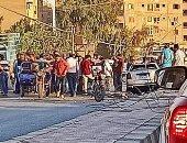 مصرع عامل وإصابة 9 آخرين فى تصادم سيارة ملاكى بتوك توك ببنى سويف.. صور