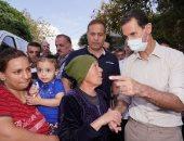 الأسد يتفقد آثار حرائق اللاذقية ويصفها بالكارثة الوطنية والدولة تتحمل دعم العائلات