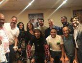 """على ربيع يشكر أشرف زكى وروجينا لحضورهما مسرحية """"صباحية مباركة"""""""