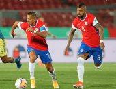 تشيلي تتفوق على كولومبيا بثنائية فى الشوط الأول بتصفيات مونديال 2022.. فيديو