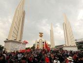احتجاجات حاشدة فى تايلاند تزامنا مع ذكرى انتفاضة بانكوك.. صور