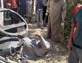 مصرع 3 مواطنين وإصابة 6 آخرين فى حادث تصادم مروع بين سيارتين بالشرقية