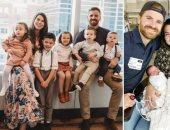 4 سنوات زواج فقط ..زوجان أمريكيان يعيشان مع 9 أطفال بينهم 4 بالتبنى..صور