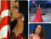 لطيفة تحتفل بعيد الجلاء الـ57 فى تونس بتقبيل العلم التونسى