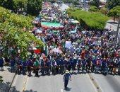 صور.. آلاف السكان الأصليين فى كولومبيا يتجهون للعاصمة لإنهاء أعمال القتل