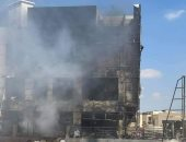 عمليات تبريد لحريق داخل مول تجارى فى التجمع.. صور
