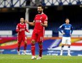 أهداف مباراة إيفرتون ضد ليفربول 2-2 في الدوري الإنجليزي وهدف محمد صلاح