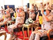 """وزير الدفاع يشهد المرحلة الرئيسية للمناورة """"ردع - 2020"""" بالذخيرة الحية.. فيديو"""