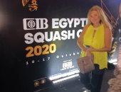 يسرا وأحمد حاتم أول الحاضرين لختام بطولة CIB مصر الدولية للاسكواش ..فيديو
