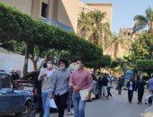 جامعة الأزهر تستقبل الطلاب فى أول أيام الدراسة وسط إجراءات وقائية.. صور